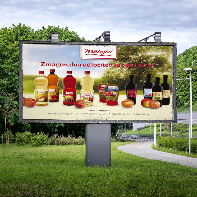 Large commercial advertisement billboard
